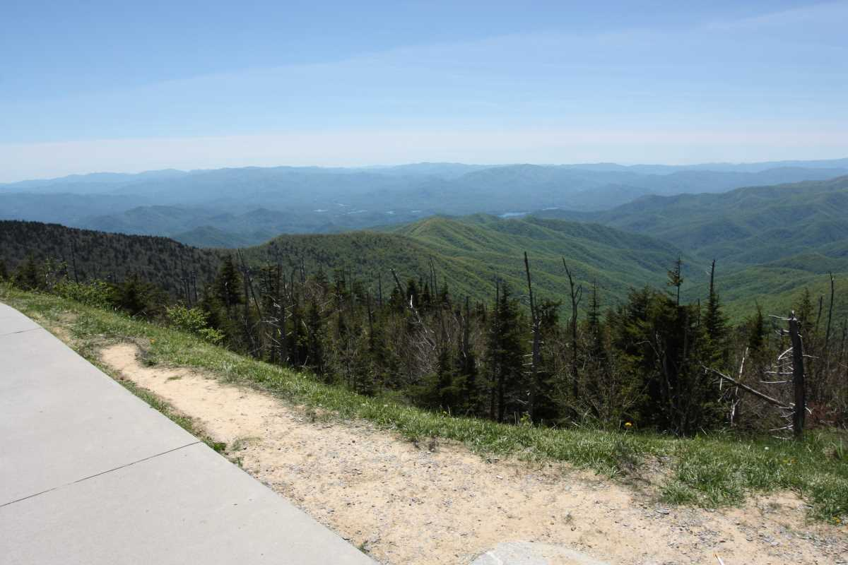 View from the Clingmans Dome Parking Lot.