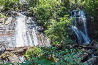 Anna Ruby Falls via the Smith Creek Trail