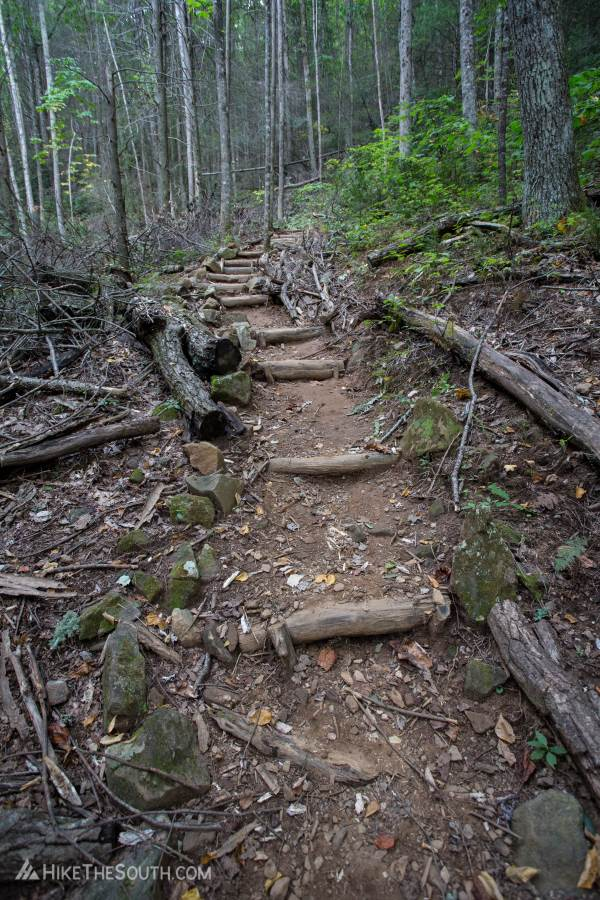 Bear Hair Gap Trail. 