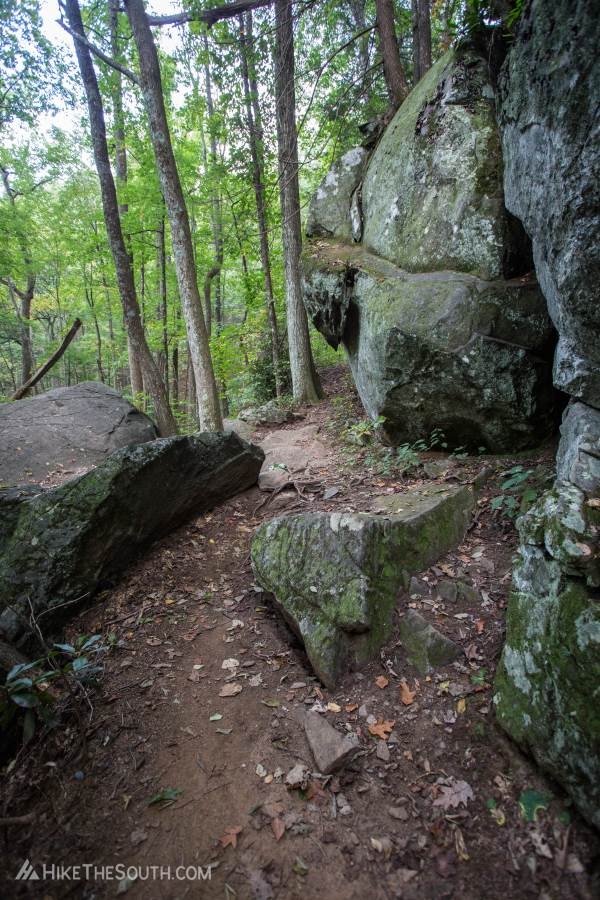 Blood Mountain via Bear Hair Gap Trail. 