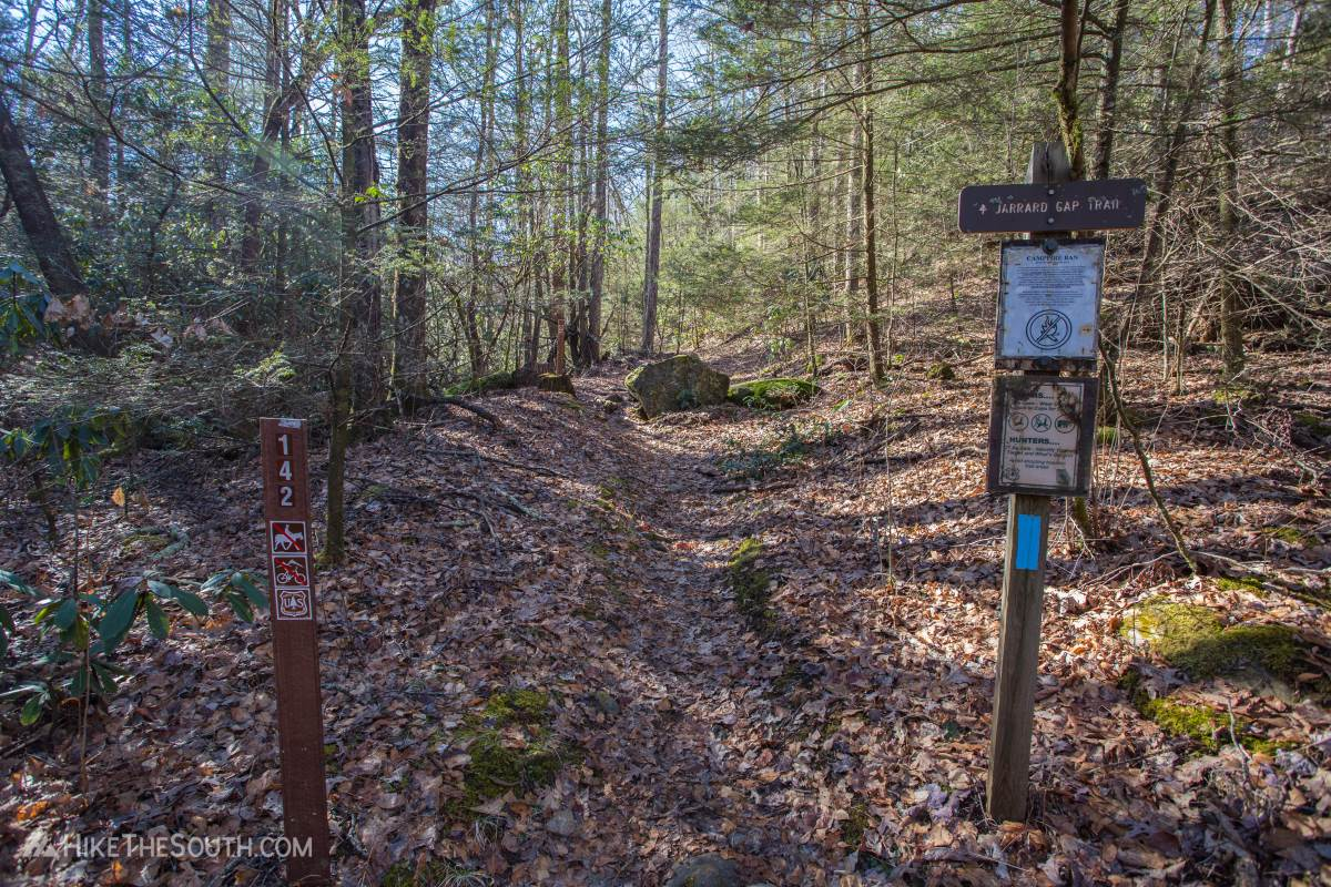 Jarrard Gap and Slaughter Creek Loop. 