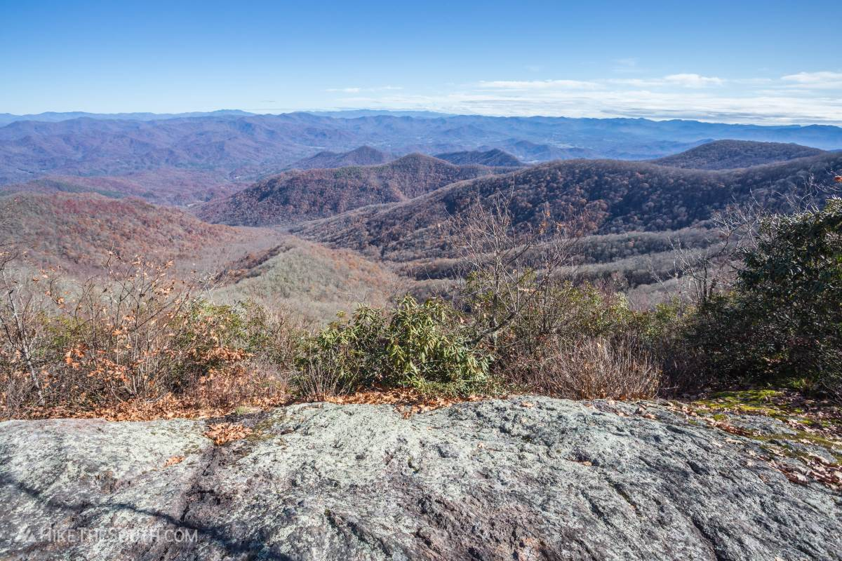 Rocky Bald via Tellico Gap. 